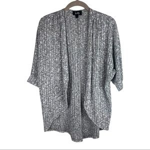 By & By Gray Open-Front High Low Cardigan Small